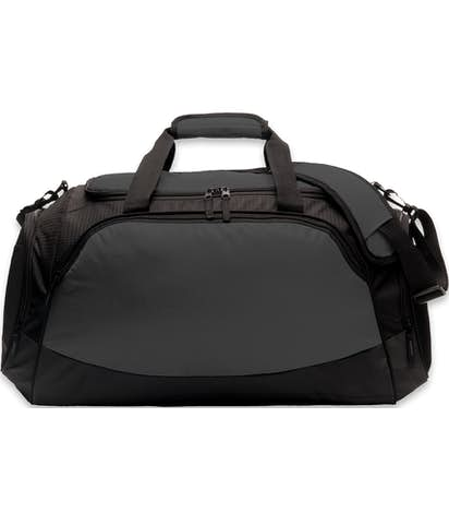 Medium Active Duffel Bag - Screen Printed - Dark Charcoal / Black