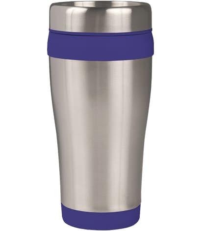 16 oz. Carmel Insulated Steel Travel Mug - Blue