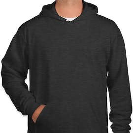 American Apparel Flex Fleece Drop Shoulder Pullover Hoodie - Color: Dark Heather Grey