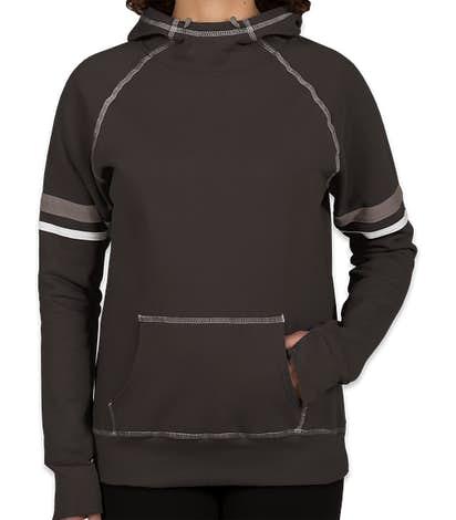 Augusta Women's Spirit Pullover Hoodie - Black / White / Graphite
