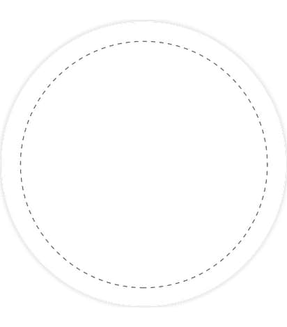 Full Color 2 in. Circle Vinyl Decal  - White