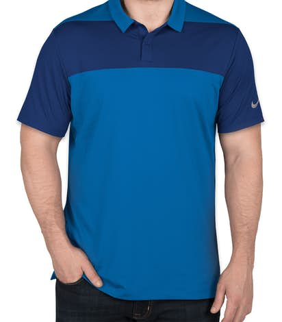 Limited Edition Nike Colorblock Performance Polo - Blue Nebula / Gym Blue
