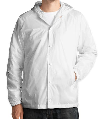 Augusta Hooded Coach's Jacket - White