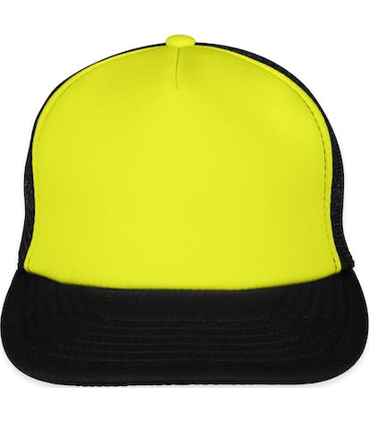 Custom District Neon Flat Bill Snapback Hat - Design Trucker Hats ... 1531db519f6