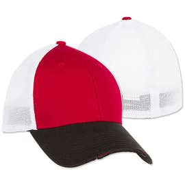 New Era 39THIRTY Distressed Stretch Fit Mesh Hat