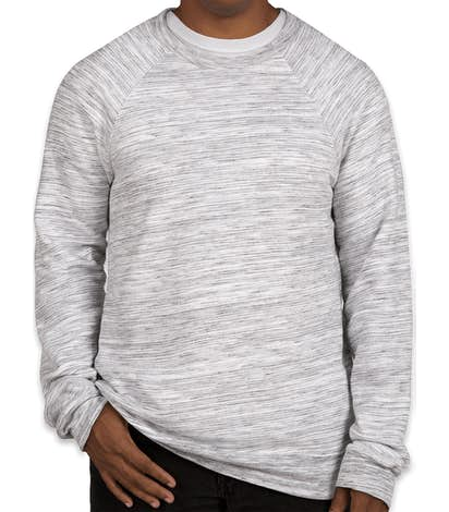 Bella + Canvas Ultra Soft Crewneck Sweatshirt - Light Grey Marble