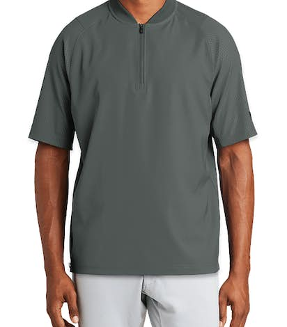 New Era Cage Baseball Short Sleeve Jacket - Graphite