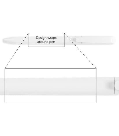 BIC Pivo Twist Action Pen (black ink) - White / White