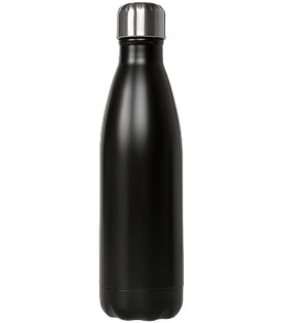S'well 17 oz. Satin Insulated Water Bottle - Laser Etched - Black