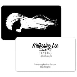 "2"" x 3.5"" Horizontal Rounded Corner Business Cards - 14pt. Cardstock"