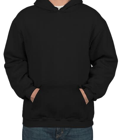 Bayside USA-Made Heavyweight Pullover Hoodie - Black