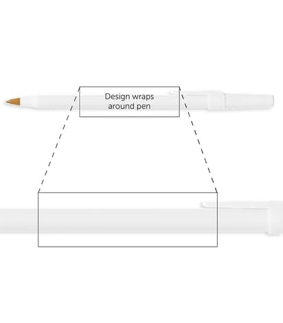 BIC Round Stic Pen (black ink) - White / White