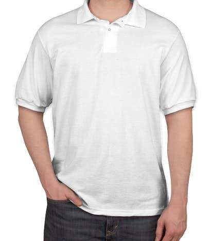 Hanes EcoSmart® 50/50 Jersey Polo - White