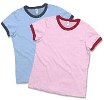 Bella + Canvas Girly Heathered Ringer T-shirt