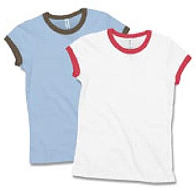 Bella + Canvas Girly Ringer T-shirt