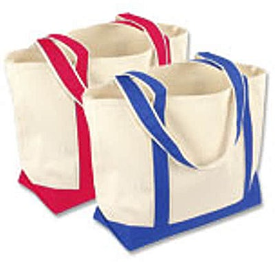 Toppers Small Canvas Two-Tone Tote