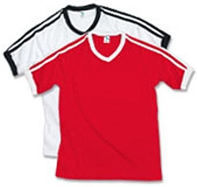 Augusta V-Neck Double Shoulder Stripe Jersey T