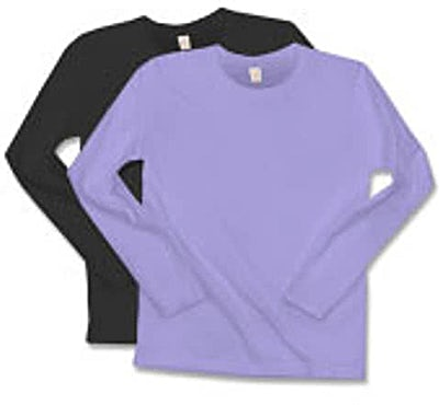 Anvil Ladies 100% Cotton Long Sleeve T-shirt