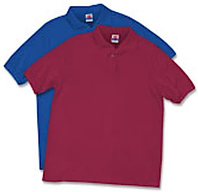 Hanes Stay Clean Jersey Polo
