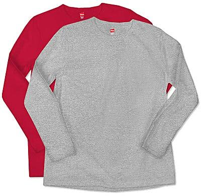 Hanes Ladies Long Sleeve T-shirt