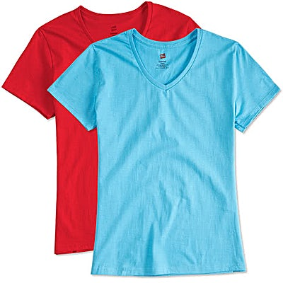 Hanes Women's Essential 100% Cotton V-Neck T-shirt