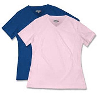 Sport-Tek Ladies Dri-Mesh V-Neck Performance Shirt