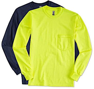 Gildan Ultra Cotton Long Sleeve Pocket T-shirt