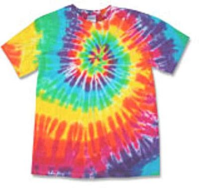 Gildan 100% Cotton Rainbow Tie-Dye T-shirt
