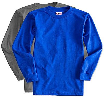 Bayside USA-Made 100% Cotton Long Sleeve T-shirt