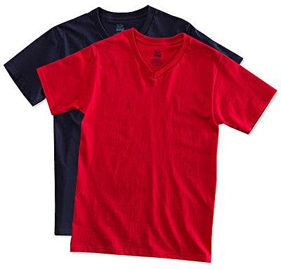 Fruit of the Loom 100% Cotton V-Neck T-shirt