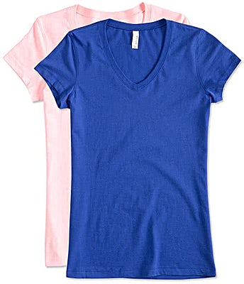 Bella + Canvas Women's Slim Fit Jersey V-Neck T-shirt