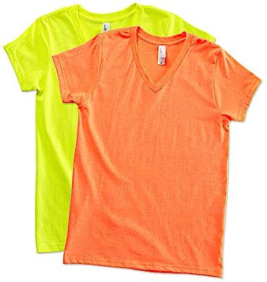 District Juniors Neon V-Neck T-shirt