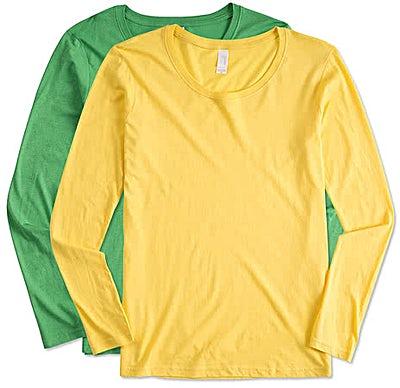 Anvil Women's Lightweight Scoop Neck Long Sleeve T-shirt