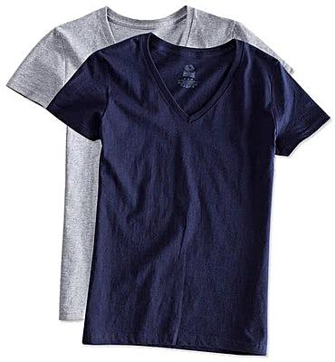 Fruit of the Loom Women's 100% Cotton V-Neck T-shirt