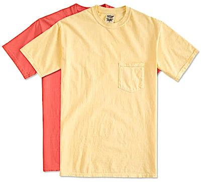 Comfort Colors 100% Cotton Pocket T-shirt