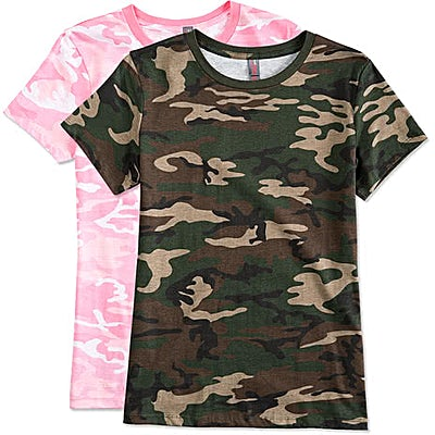 District Made Ladies Camo T-shirt
