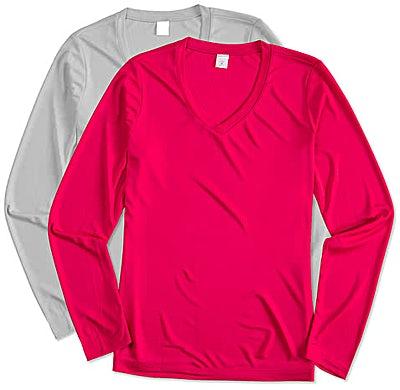 Sport-Tek Women's Competitor Long Sleeve V-Neck Performance Shirt