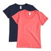 Gildan Women's 100% Cotton V-Neck T-shirt