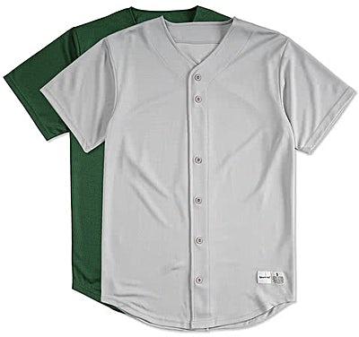 Sport-Tek Tough Mesh Full Button Baseball Jersey