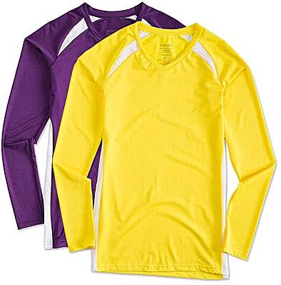 Augusta Women's Slim Fit Long Sleeve Contrast Volleyball Jersey