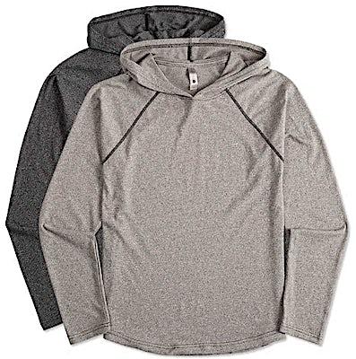 Next Level Hooded Melange Long Sleeve T-shirt