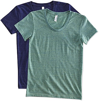 American Apparel Women's Slim Fit Tri-Blend Track T-shirt