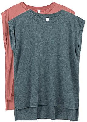 Bella + Canvas Women's Flowy Rolled Cuff T-shirt