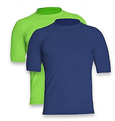 Wet Effect Short Sleeve Rash Guard Shirt