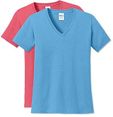 Port & Company Women's Core Cotton V-Neck T-shirt